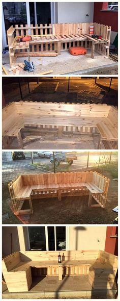 pallet outdoor furniture diy idea
