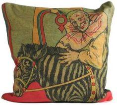 Vintage Clown with Zebra