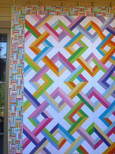 colorful lattice quilt