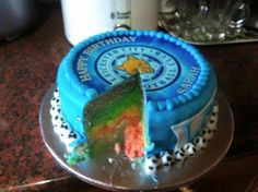 Leicester city football club cake