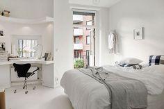 16 Relaxing Scandinavian Bedroom Design Ideas - Best Home Remodel Bedroom Loft, Home Bedroom, Bedroom Decor, Bedroom Ideas, Master Bedroom, Design Moderne, Deco Design, Loft Design, Beautiful Bed Designs