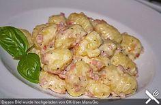 Gnocchi mit Käse-Knoblauch-Schinken-Soße, ein beliebtes Rezept aus der Kategorie Kartoffeln. Bewertungen: 43. Durchschnitt: Ø 4,4.