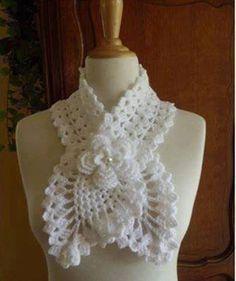#562 Bufanda a Crochet o Ganchillo