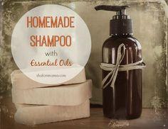 DIY all-natural homemade shampoo with essential oils. Natural health and beauty. Diy Shampoo, Doterra Shampoo, Doterra Essential Oils, Young Living Essential Oils, Diy Masque, Homemade Beauty Products, Natural Products, Eos Products, Living Oils