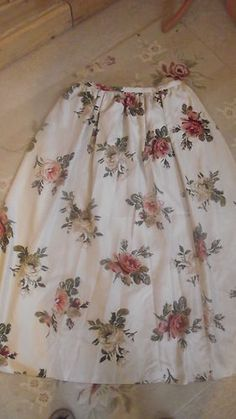 Gorgeous SILK Laura Ashley Floral Vintage Full Long Evening/party skirt 16/18 | eBay