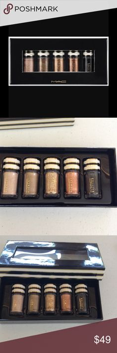 NIB MAC Nocturnal Holiday Pigments & Glitter About the Product MAC Nocturnals Pigment and Glitter Black and Gold Holiday set. Set includes: Naked, Museum Bronze, Copper Sparkle, Gold and Black. Limited Edition TRADES MAC Cosmetics Makeup Eyeshadow