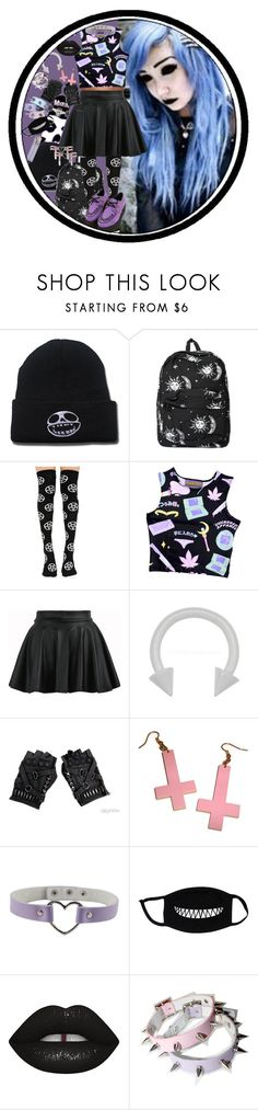 """""""Skull Candy"""" by chemicalfallout249 on Polyvore featuring Motel, Killstar, LULUS, Lime Crime, goth, gothic, pastelgoth, alternative and pastelgothic"""