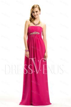 Graceful Strapless A-Line Floor-Length Prom Dress