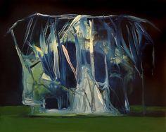 Joseba Eskubi. Sin título, 2015. Óleo sobre papel. 40 x 30 cm.