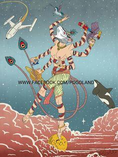 Goddess of Moon #arte #art #tattoo #illustration #ilustracao #illustragram #godness #moon #rat