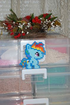 My Little Pony- Chibi Rainbow Dash Perler