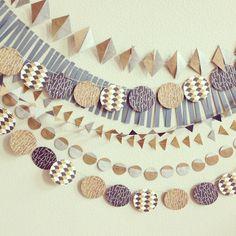 geometric garland #maraboudesign #minted