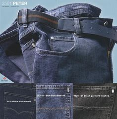 +SALE! 2 x Peter Jeans Gr. 46-70 blue + dark + black