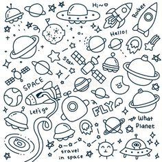 doodle art Comment dessiner dans son bullet j - art Easy Doodles Drawings, Easy Doodle Art, Doodle Art Drawing, Simple Doodles, Pages Doodle, Doodle Art Journals, Space Doodles, Note Doodles, Hand Doodles