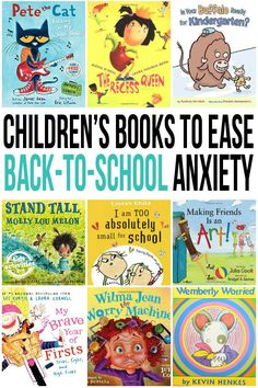 Children's Books for Back-To-School Anxiety