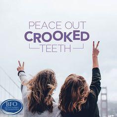PUT CROOKED TEETH where they belong: behind braces! #brownfamortho #teeth #AWESOME #smile