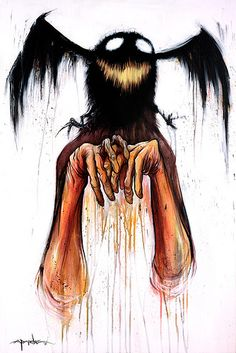 Alex Pardee Probably my favourite illustrator. I like the combination of scary monster-like creatures and bright colours, it's a nice contrast.