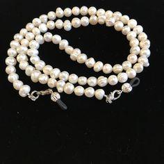 Fresh Water Pearl Beaded Eyeglass Chain-Sunglass Chain-Eyeglass Holder-Chain for Glasses-Necklace by HeavenlyChains on Etsy
