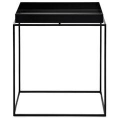 Tray table M square 44 cm black