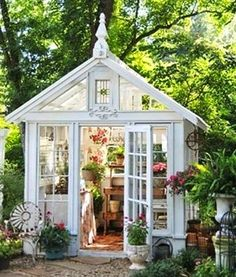 """These """"she sheds"""" are the female equivalent of a man-cave.  A she shed is a little oasis that one could also call a """"zen den""""."""