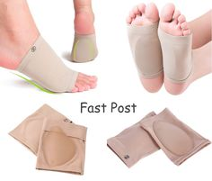 Plantar Fasciitis, Heel Pain or Spurs. Gel arch pad prevents overpronation (foot rolling inward too much), while massaging the arch. Gentle compression and comfort to arch of foot. Plantar Fasciitis Arch Support, Gel Toe Separators, Arch Support Shoes, Flat Feet, Indian Bridal Outfits, Heel Pain, Foot Pads, Feet Care, Pain Relief