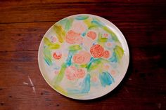 """Don't we all wish we had a secret garden? Bring some of it home with this hand painted """"Secret Garden"""" serving plate. Each piece sold by Young Alexander is hand-painted in the USA. Kitchenware, Tableware, Serving Plates, Artsy Fartsy, Flower Power, Cool Art, Sweet Home, Floral Prints, Objects"""