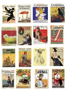 Free Collage Sheets (baseball, sports, ladies & home magazine covers)