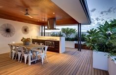 Alfresco Ideas for a New Home Outdoor Ideas, Alfresco Ideas, Outdoor Decor, Patio Tiles, Al Fresco Dining, Build Your Dream Home, New Home Designs, Luxury Living, Outdoor Dining