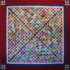 Oh, the pain it would be to make this many half-square triangles - but what a stunning quilt.
