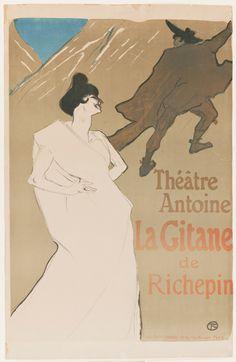 Henri de Toulouse-Lautrec (French, 1864–1901)  La Gitane, 1899  Color lithograph  image: 35 3/4 x 24 15/16 in. (90.81 x 63.34 cm) sheet: 39 5/8 x 25 1/2 in. (100.65 x 64.77 cm)  Gift of Mrs. Harry Lynde Bradley