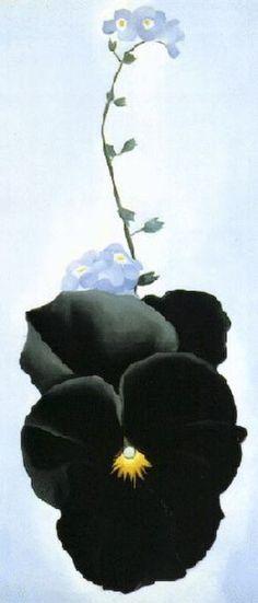 "wasbella102: "" Black Pansy by Georgia O' Keeffe """