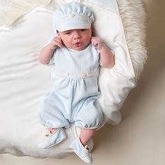 Newborn Designer Clothes Boys Smocking Baby Boys Clothing