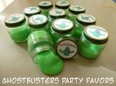 La Vida es Bella: Ghostbusters Party Ectoplasm Labels