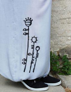 Široké harémky Kvítko - šedá Bags, Handbags, Bag, Totes, Hand Bags