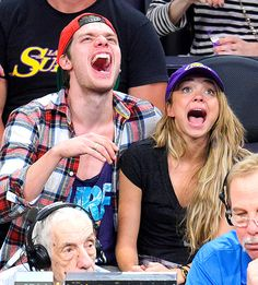 Sarah Hyland and boyfriend Dominic Sherwood marveled as the Dallas Mavericks and the Lakers faced off inside the Staples Center in L.A. March 8.