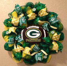 Green Bay Packers wreath Green Bay Packers decor by WandNDesigns                                                                                                                                                      More