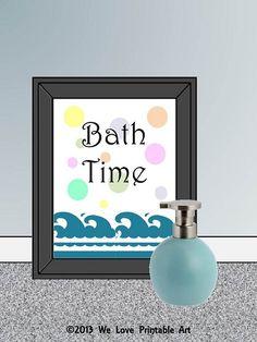 Bath Time! #printable