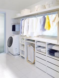 Outdoor Laundry Rooms, Tiny Laundry Rooms, Laundry Room Storage, Laundry Room Design, Open Bathroom, Laundry In Bathroom, Modern Bedroom Design, Home Interior Design, Landry Room