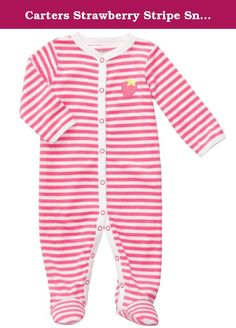 Carters Strawberry Stripe Snap Up Sleep & Play PINK Newborn. Carters Easy Entry Terry Sleep N Play - Pink/White Stripes Carter's is the leading brand of children's clothing, gifts and accessories in America, selling more than 10 products for every child born in the U.S. The designs are based on a heritage of quality and innovation that has earned them the trust of generations of families. .