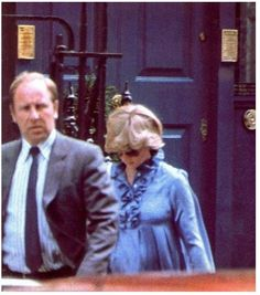 Princess Diana leaving an appointment with Dr. Pinker during her last weeks of pregnancy with William ~ June 1982