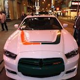 Antrel Rolle and our Antrel/Miami U -inspired custom Dodge Charger arrive at the NFL Draft Party at Bowlmor Lanes in Times Square. Miami Hurricanes Apparel, University Of Miami Hurricanes, Hurricanes Football, College Football Teams, Football Uniforms, Football Stuff, Sports Teams, U Of Miami, Moon Over Miami