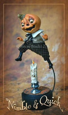 Guest Artist Scott Smith – Rucus Studio – Art Dolls Only Halloween Diorama, Halloween Doll, Halloween Ornaments, Christmas Figurines, Diy Halloween Decorations, Holidays Halloween, Vintage Halloween, Halloween Pumpkins, Halloween Crafts
