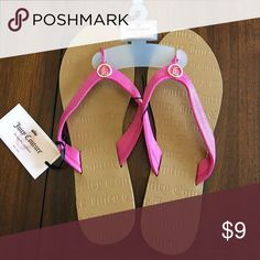 Juicy Couture Pink/brown Flip Flops Size XL 11 NWT Size 11 Juicy Couture Shoes Sandals