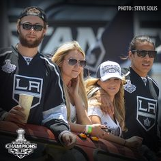 A photo from my LA Kings Victory Parade coverage for media.