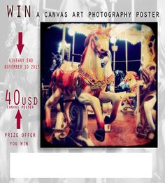 $40 canvas Photography poster Giveaway