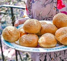 Combine the ingredients for brioche with a burger bun recipe to make a deliciously sweet, soft, light dough. It could also be shaped into hot dog rolls Soft Burger Buns Recipe, Hot Dog Rolls, Bbc Good Food Recipes, Bread Recipes, Kebab Recipes, Yummy Food, Soda Bread, Bread Tin, Hot Cross Buns
