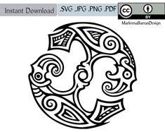 Odin's Ravens Huginn and Muninn Circular par MarleenaBarranDesign