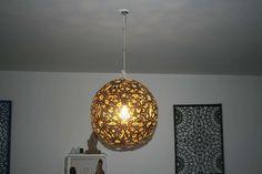faux moroccan lamp - diy