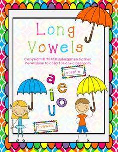 Long Vowels - a,e,i,o,u    $