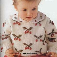 Knitted baby and child sweater patterns - - Knitting, Crochet Love Baby Cardigan Knitting Pattern, Baby Knitting Patterns, Sweater Patterns, Knit Baby Sweaters, Knitted Baby, Fair Isles, Baby Slippers, Knitting Videos, Drops Design